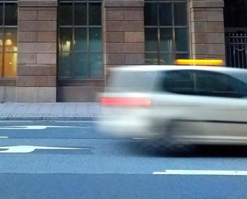 Taxi unscharf