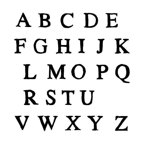 Alphabet Buchstaben