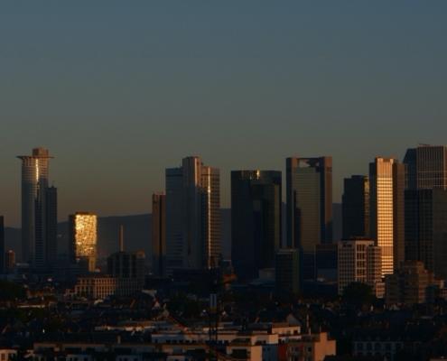 Frankfurt USP = Skyline Morgen