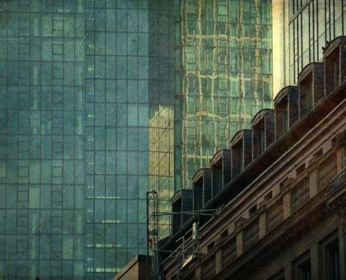 Geschäftshäuser Glasfassade